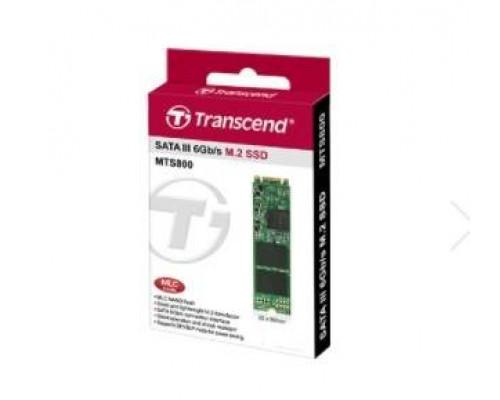 Твердотельный диск 128GB Transcend MTS800S, M.2, SATA III [ R/W - 460/560 MB/s]